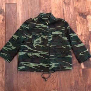 Camouflage zipper jacket